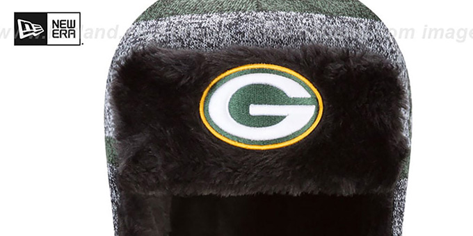 Packers 'FROSTWORK TRAPPER' Green Knit Hat by New Era