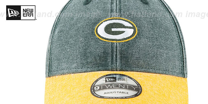 Packers 'GW RUGGED CANVAS STRAPBACK' Green-Gold Hat by New Era