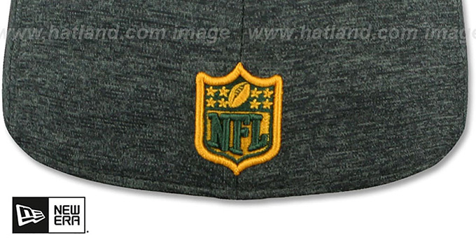 Packers 'HEATHER-HUGE' Grey-Black Fitted Hat by New Era