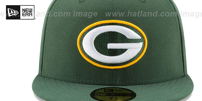 Packers 'NFL TEAM-BASIC' Green Fitted Hat by New Era