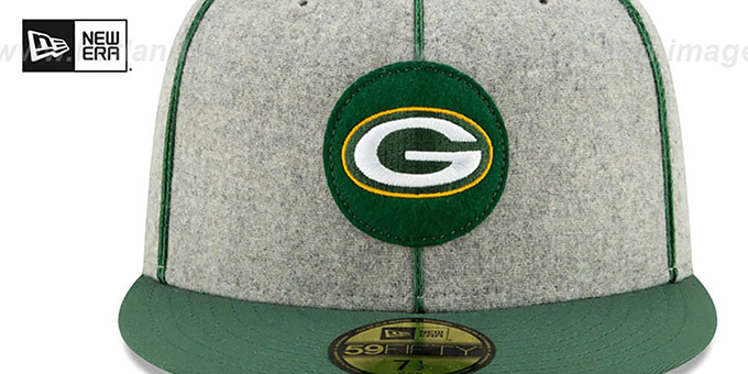 Packers 'ONFIELD SIDELINE HOME' Grey-Green Fitted Hat by New Era