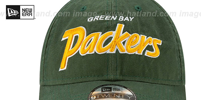 Packers 'RETRO-SCRIPT SNAPBACK' Green Hat by New Era