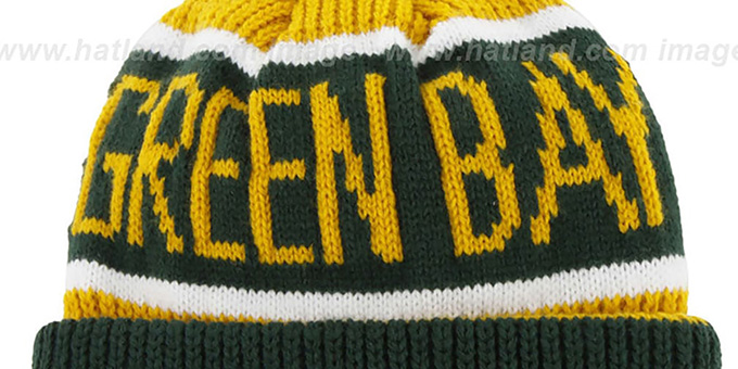 Packers 'THE-CALGARY' Green-Gold Knit Beanie Hat by Twins 47 Brand