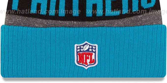 Panthers '2016 STADIUM' Blue-Black-Grey Knit Beanie Hat by New Era