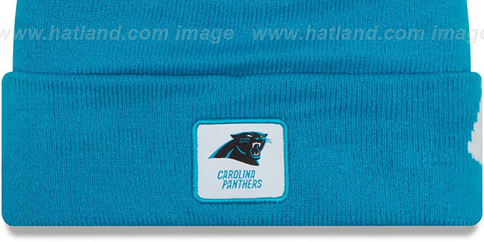 Panthers 'COLOSSAL-TEAM' Blue Knit Beanie Hat by New Era