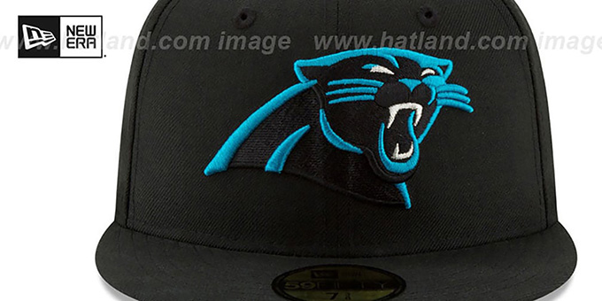 Panthers 'NFL TEAM-BASIC' Black Fitted Hat by New Era