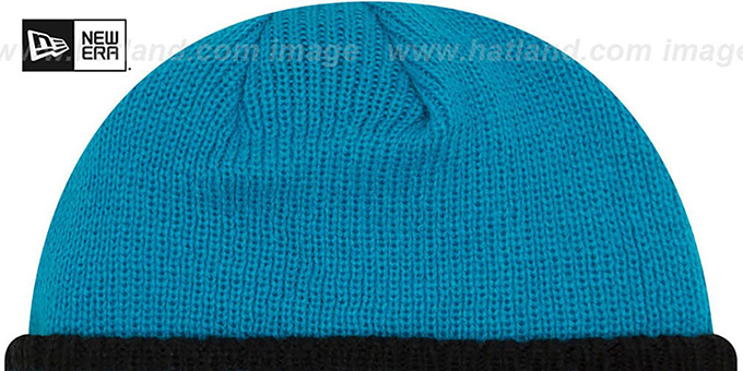 Panthers 'RIBBED-UP' Blue Knit Beanie Hat by New Era