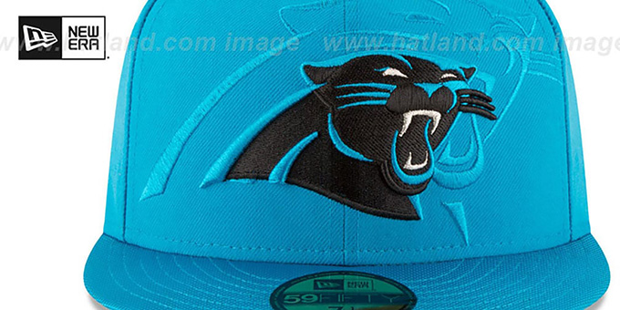 Panthers 'STADIUM SHADOW' Blue Fitted Hat by New Era