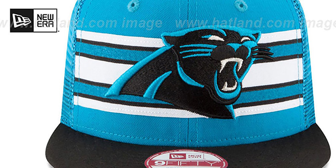 Panthers 'THROWBACK-STRIPE SNAPBACK' Blue-Black Hat by New Era