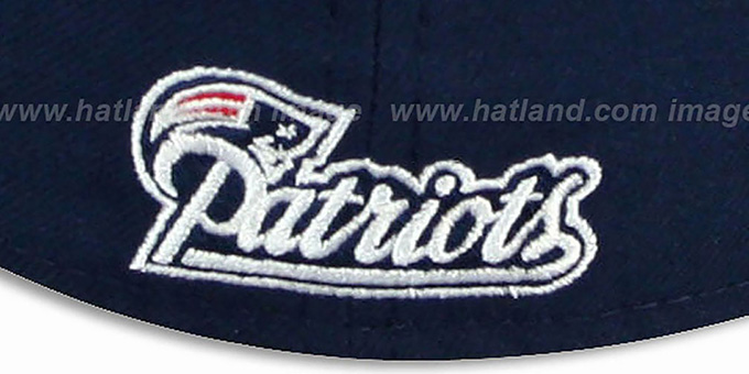 Patriots  'NFL JERSEY-STRIPE' Navy Fitted Hat by New Era