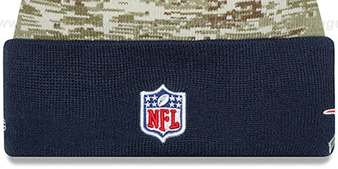 Patriots '2015 SALUTE-TO-SERVICE' Knit Beanie Hat by New Era