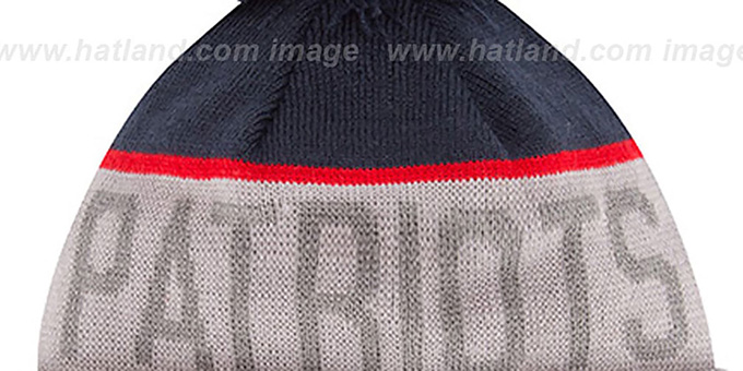 Patriots '2015 STADIUM' Grey-Navy Knit Beanie Hat by New Era