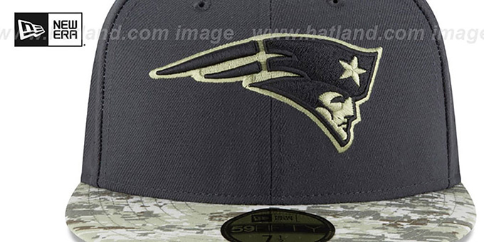 Patriots '2016 SALUTE-TO-SERVICE' Grey-Desert Fitted Hat by New Era