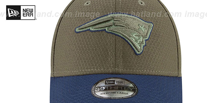 Patriots '2017 SALUTE-TO-SERVICE FLEX' Green-Navy Hat by New Era