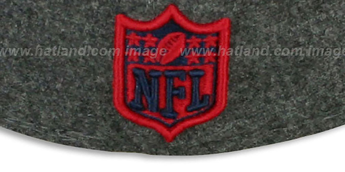 Patriots '2T NFL MELTON-BASIC' Grey-Red Fitted Hat by New Era