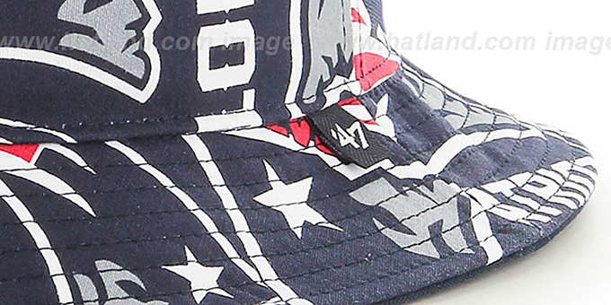 Patriots 'BRAVADO BUCKET' Hat by Twins 47 Brand