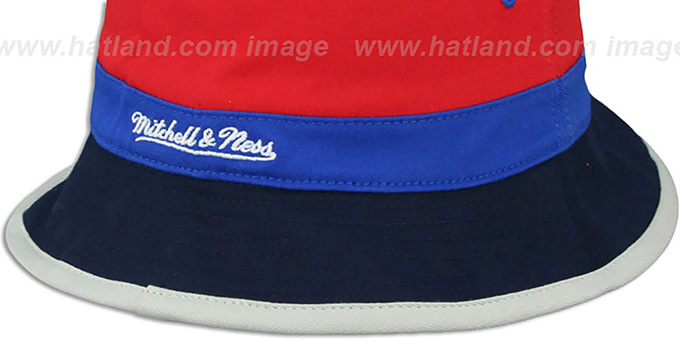 ... Patriots  COLOR-BLOCK BUCKET  Red-Royal-Navy Hat by Mitchell and 4cf248dd8