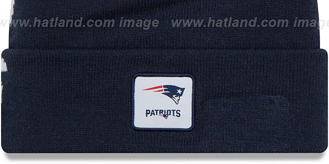 Patriots 'COLOSSAL-TEAM' Navy Knit Beanie Hat by New Era