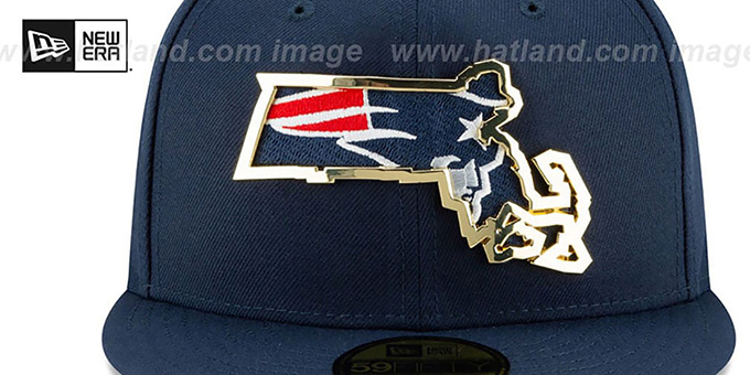 Patriots 'GOLD STATED INSIDER' Navy Fitted Hat by New Era