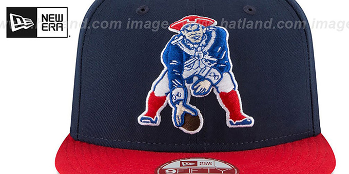 Patriots 'LOGO GRAND REDUX TB SNAPBACK' Navy-Red Hat by New Era