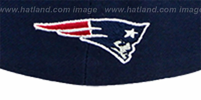 Patriots 'NFL 2T CHOP-BLOCK' Navy-Red Fitted Hat by New Era