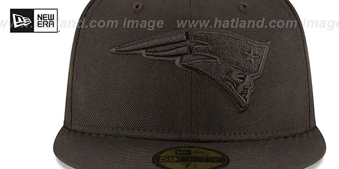 Patriots 'NFL TEAM-BASIC BLACKOUT' Fitted Hat by New Era