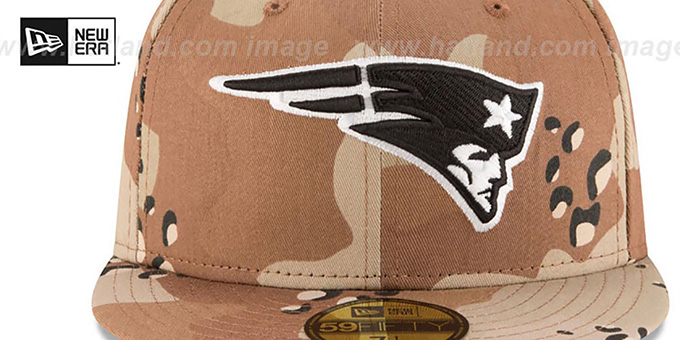 Patriots 'NFL TEAM-BASIC' Desert Storm Camo Fitted Hat by New Era