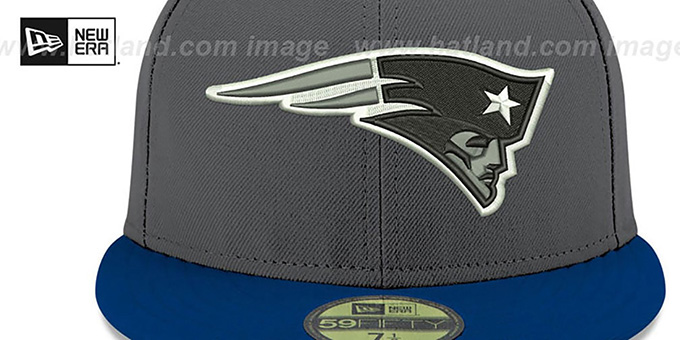 Patriots 'SHADER MELT-2' Grey-Navy Fitted Hat by New Era
