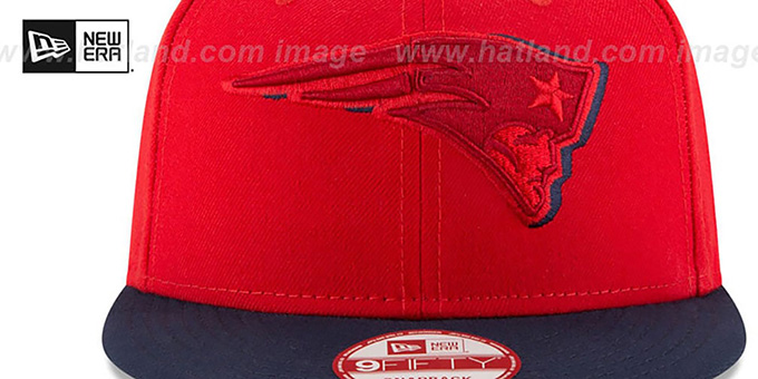 Patriots 'SHADOW SLICE SNAPBACK' Red-Navy Hat by New Era
