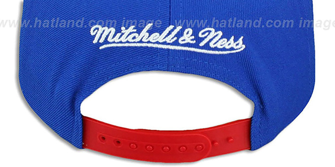 Patriots 'STOP-ON-A-DIME SNAPBACK' Royal-Red Hat by Mitchell and Ness