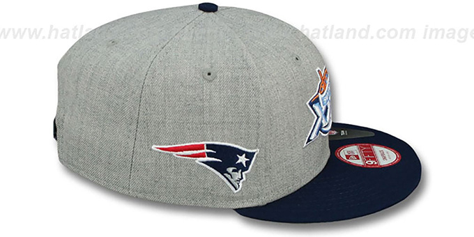 Patriots 'SUPER BOWL XXXIX SNAPBACK' Grey-Navy Hat by New Era