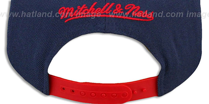 Patriots 'TAILSWEEP SNAPBACK' Navy-Red Hat by Mitchell and Ness
