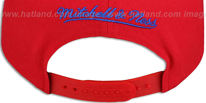 Patriots 'THROWBACK-BASIC SNAPBACK' Red Hat by Mitchell and Ness