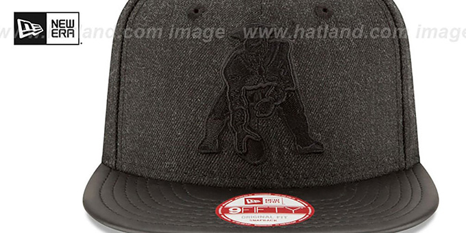 ... Patriots  THROWBACK LEATHER-MATCH SNAPBACK  Black Hat by New Era ... 73c46a22254