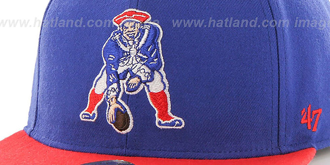 ... Patriots  THROWBACK SUPER-SHOT STRAPBACK  Royal-Red Hat by Twins 47  Brand ... 42e36d986
