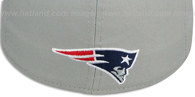 Patriots 'TRACE-POP' Grey-Navy Fitted Hat by New Era