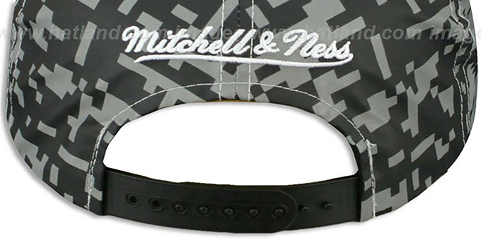 Pelicans '3M DIGI-CAMO SNAPBACK' Black-Grey Hat by Mitchell and Ness