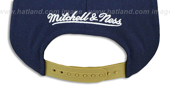 Pelicans 'STOP-ON-A-DIME SNAPBACK' Navy-Gold Hat by Mitchell and Ness
