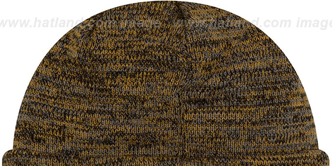 Penguins 'BEVEL' Gold-Black Knit Beanie Hat by New Era