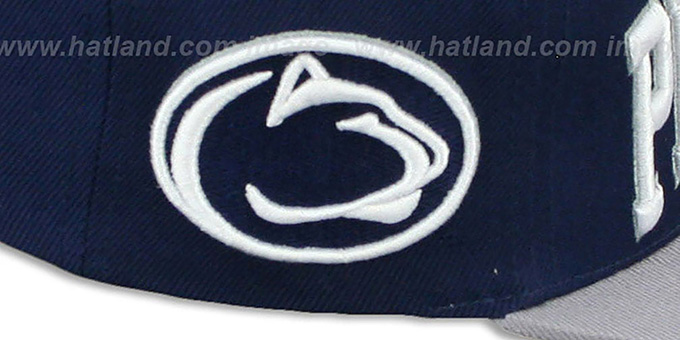 Penn State 'LACROSSE SUPER-ARCH SNAPBACK' Navy-Grey Hat by Zephyr