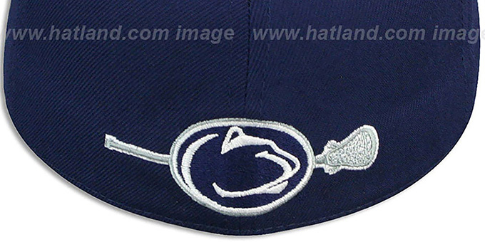 Penn State 'SWOOP LACROSSE' Navy Fitted Hat by Zephyr