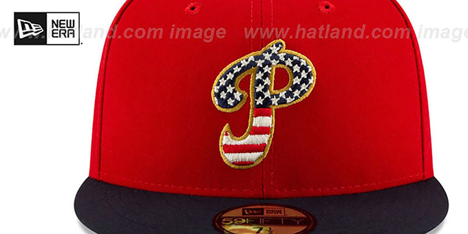 big sale b89c5 e5e06 ... Phillies  2019 JULY 4TH STARS N STRIPES  Fitted Hat by New Era ...