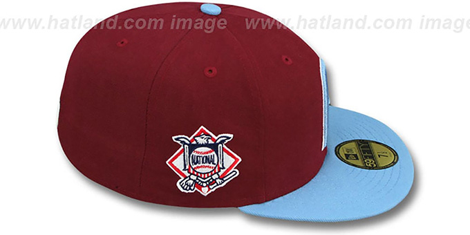 Phillies 'BAYCIK' Burgundy-Sky Fitted Hat by New Era