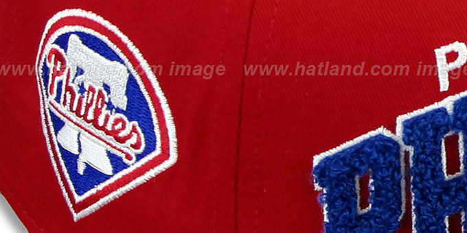 Phillies 'CHENILLE-ARCH SNAPBACK' Red-Royal Hat by New Era