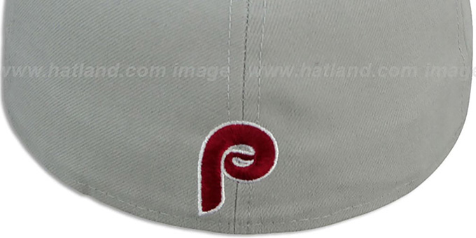 Phillies COOP 'PROFILIN' Grey-Burgundy Fitted Hat by New Era