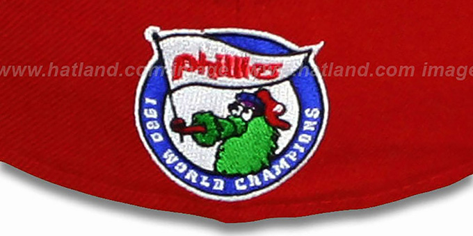 Phillies 'FUNKY MASCOT' Red Fitted Hat by New Era