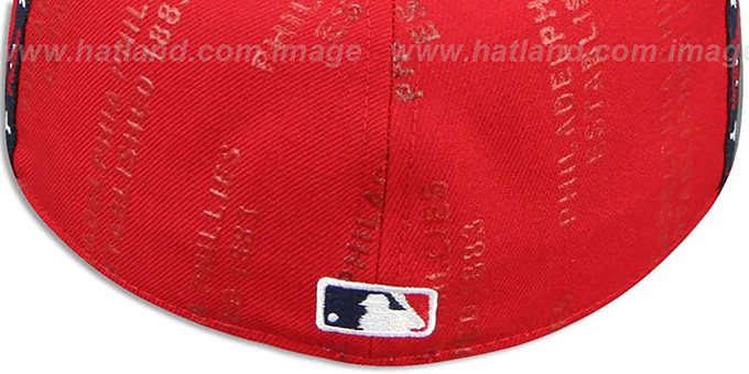 Phillies 'GELLIN' Red-Royal Fitted Hat by New Era