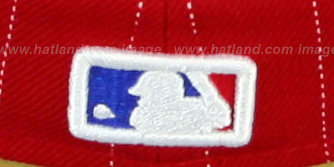 Phillies 'PIN-SCRIPT' Red-Royal Fitted Hat by New Era