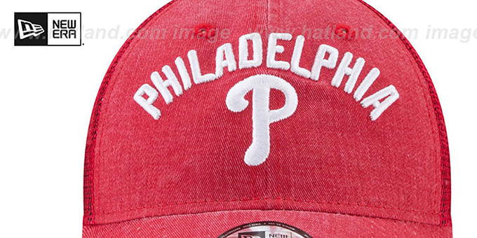 Phillies 'RUGGED-TEAM TRUCKER SNAPBACK' Red Hat by New Era