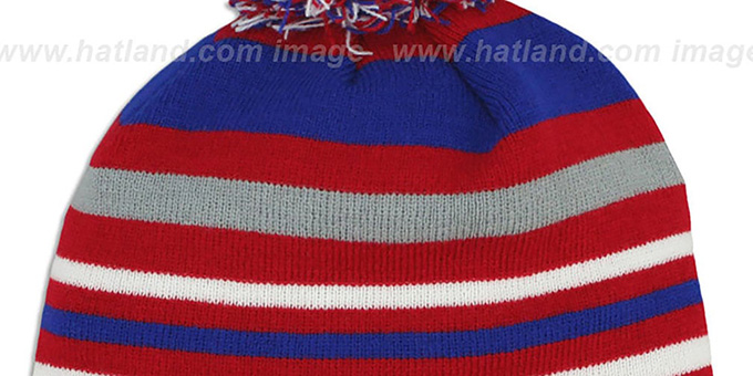 Phillies 'STRIPEOUT' Knit Beanie Hat by New Era